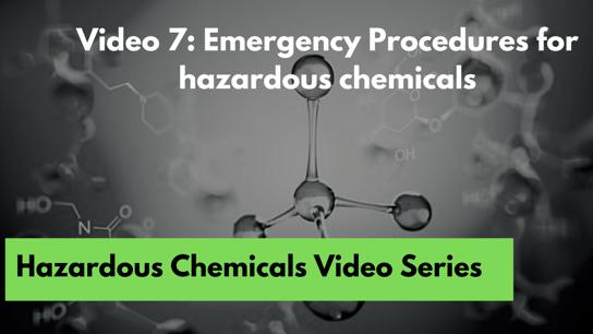 7. Emergency procedures
