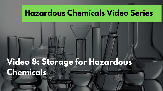 8. Storage of hazardous chemicals