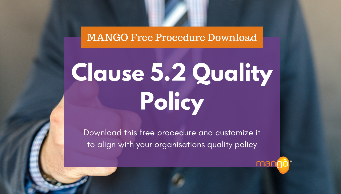 Clause 5.2 Quality Policy