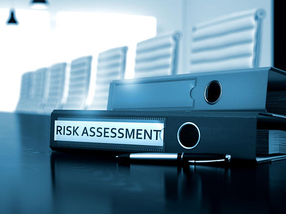Risk Assessment. Business Concept on Blurred Background. Office Folder with Inscription Risk Assessment on Working Desktop. Risk Assessment - Concept. 3D.-2