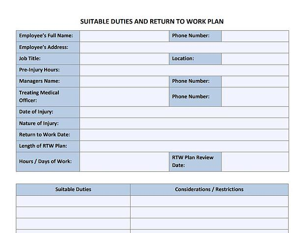 Suitable duties