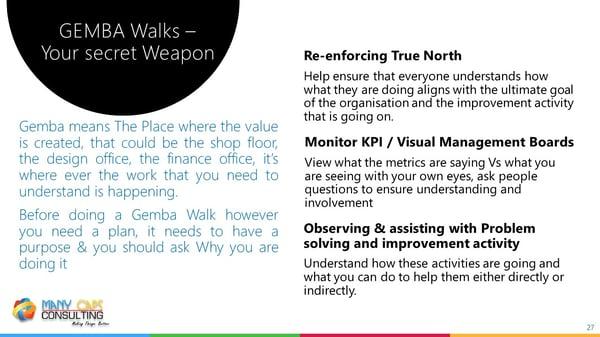 Lean webinar - Gemba walks