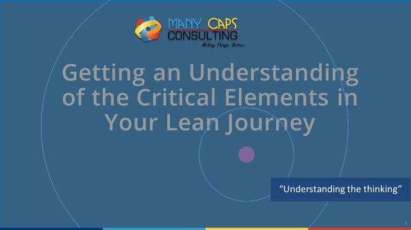 Lean webinar - Lean journey