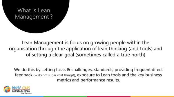 Lean webinar - Lean management