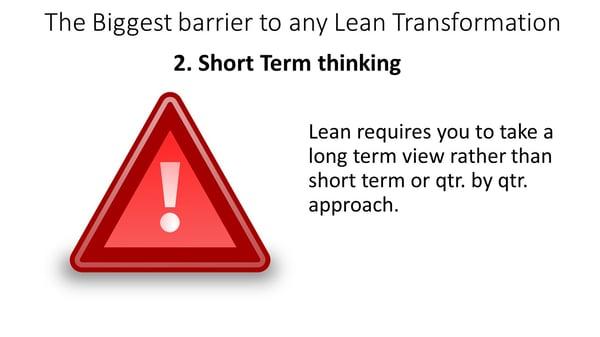Lean webinar - Short term thinking