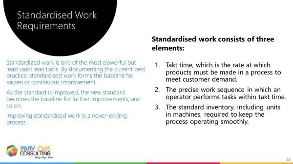 Lean webinar - Standard work requirements