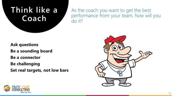 Lean webinar - Think like a coach
