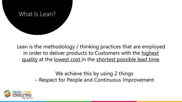 Lean webinar - What is lean