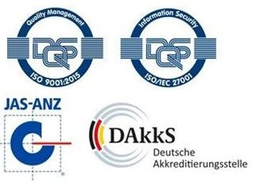 ISO 9001 and ISO 27001 with JAZANZ and DAkkS