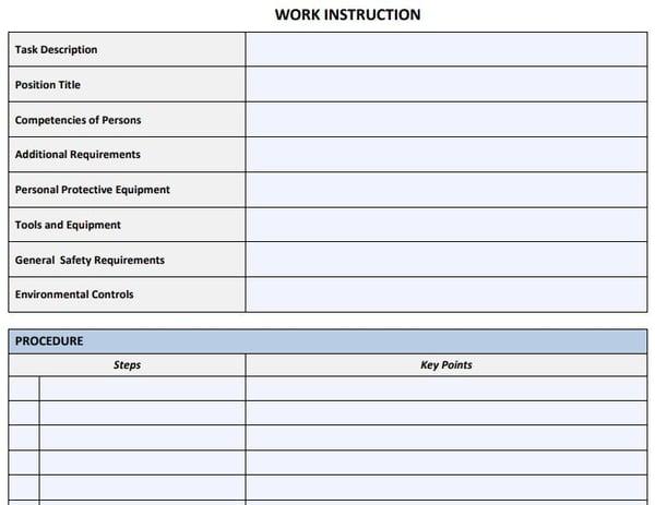 Work Instruction