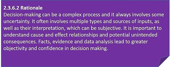 evidence based decision making rationale