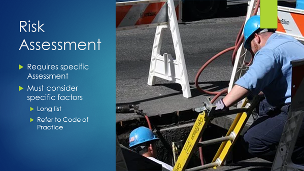 Confined Space - Risk Assessment