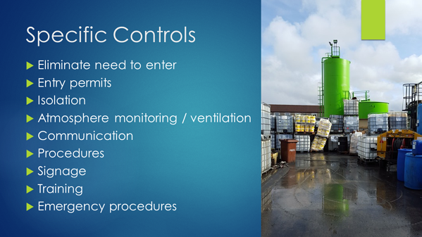 Confined Space - Specific Controls