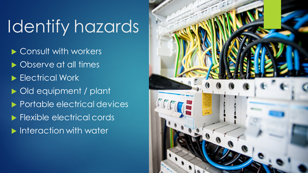 Electrical safety - identify hazards